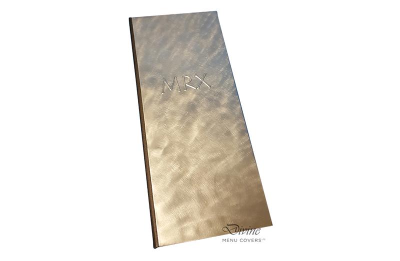 Genuine Brushed Aluminum Metal Menu