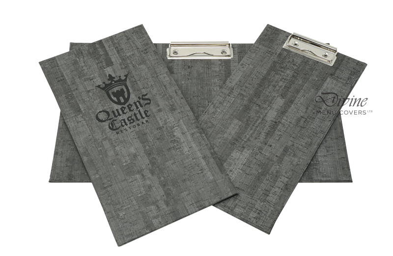 Charcoal Cork Clipboard with Debossed Logo