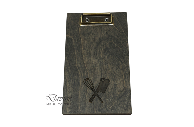Charcoal Genuine Wood Clipboard With Laser Engraving