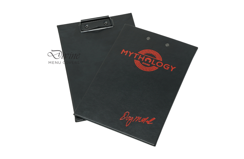 Euro Black Clipboard With Red Foil Stamp