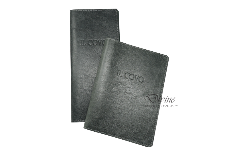 Genuine Leather Flexible Cover With Debossed Logo And Stitching