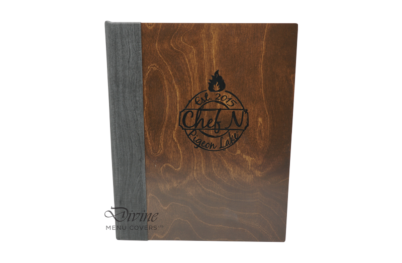 Genuine Wood Front Cover With Black Foil Stamp